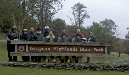 The Gang at Grayson Highlands
