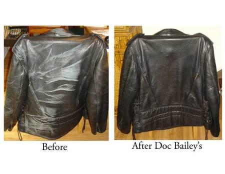 Doc Bailey's on Leather Motorcycle Jacket
