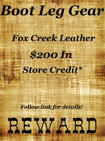 Boot Leg Fox Creek Leather Gear Reward