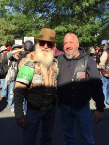Richard (on the right), at Ride to the Wall festivities.